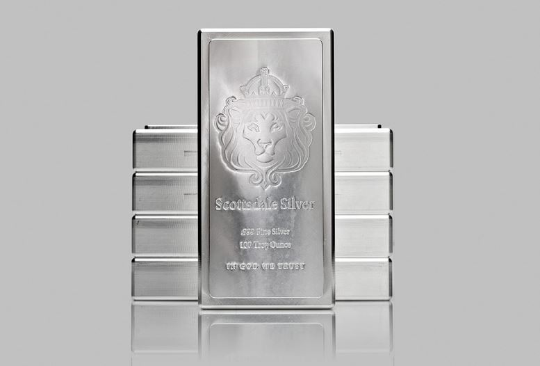 100oz Scottsdale King Stacker Silver Bar