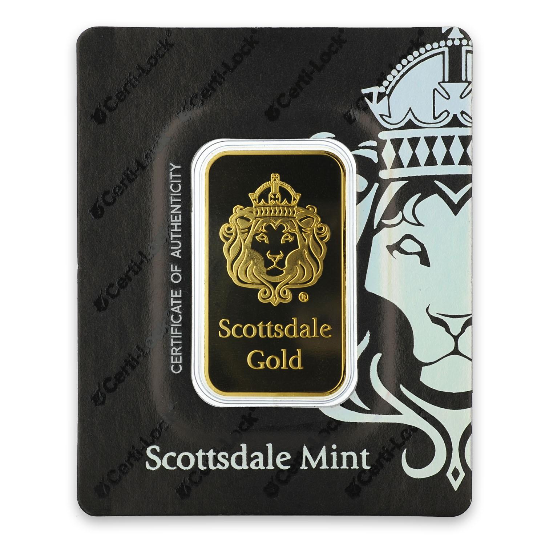 1oz Heraeus Scottsdale Gold Certi-LOCK Bar