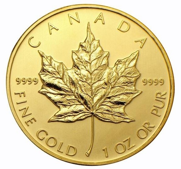 1oz Canadian Maple Leaf Gold Coin (Various Years)