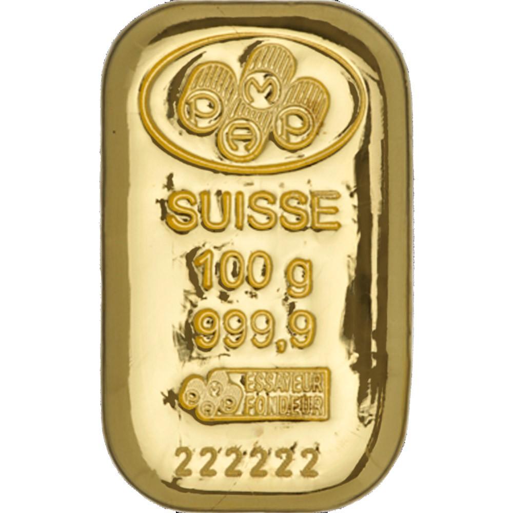 100g Pamp Suisse Gold Cast Bar