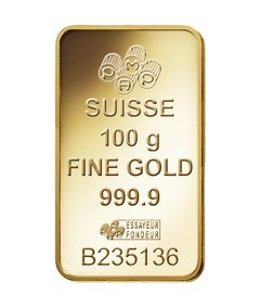 100g Pamp Suisse Minted Fortuna Gold Bar
