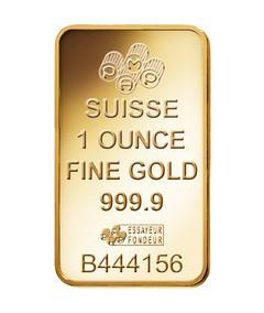 1oz Pamp Suisse Minted Fortuna Gold Bar