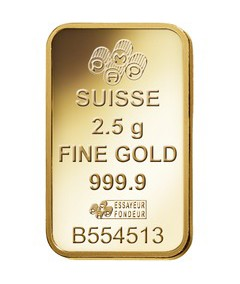 2.5g Pamp Suisse Minted Fortuna Gold Bar