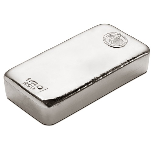 1kg Perth Mint Silver Cast Bar
