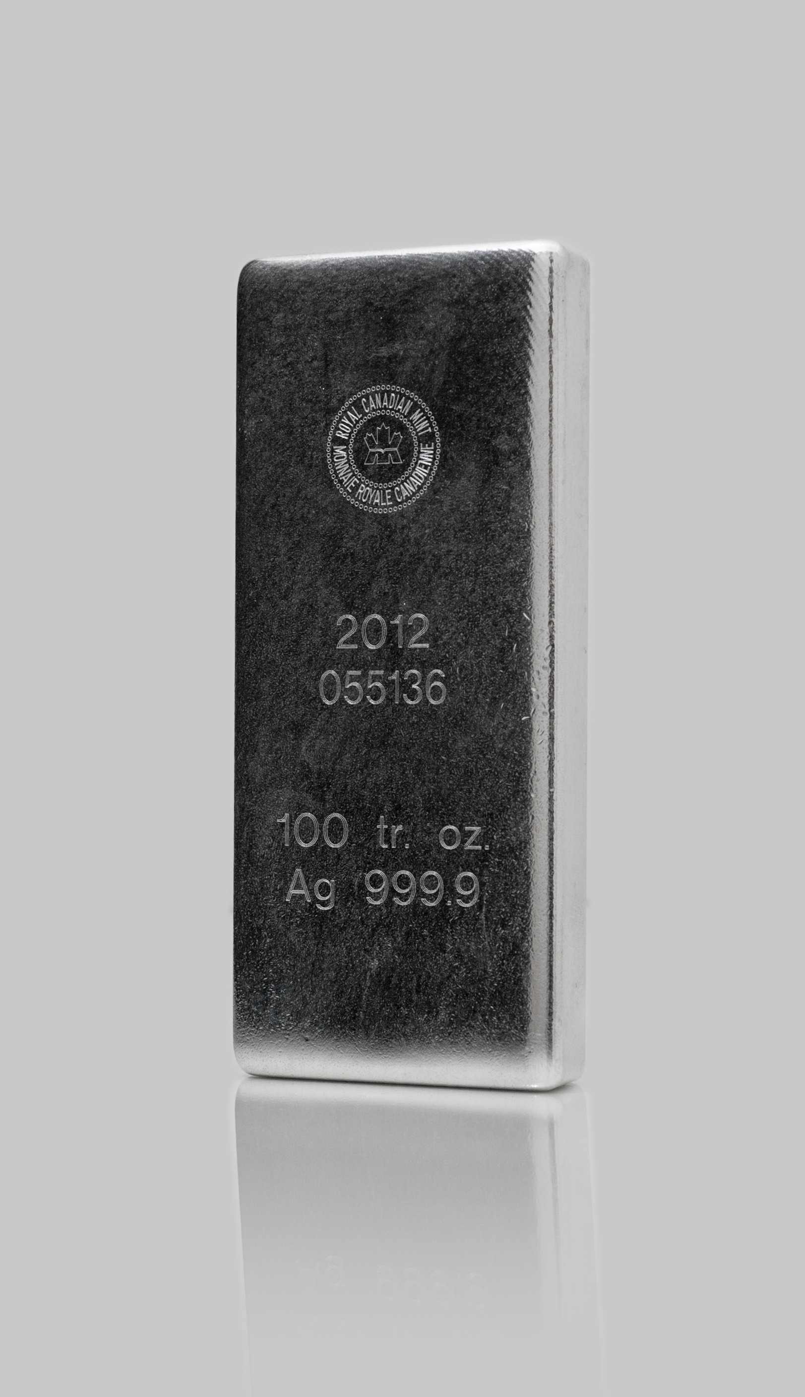 100oz Royal Canadian Mint Silver Bar