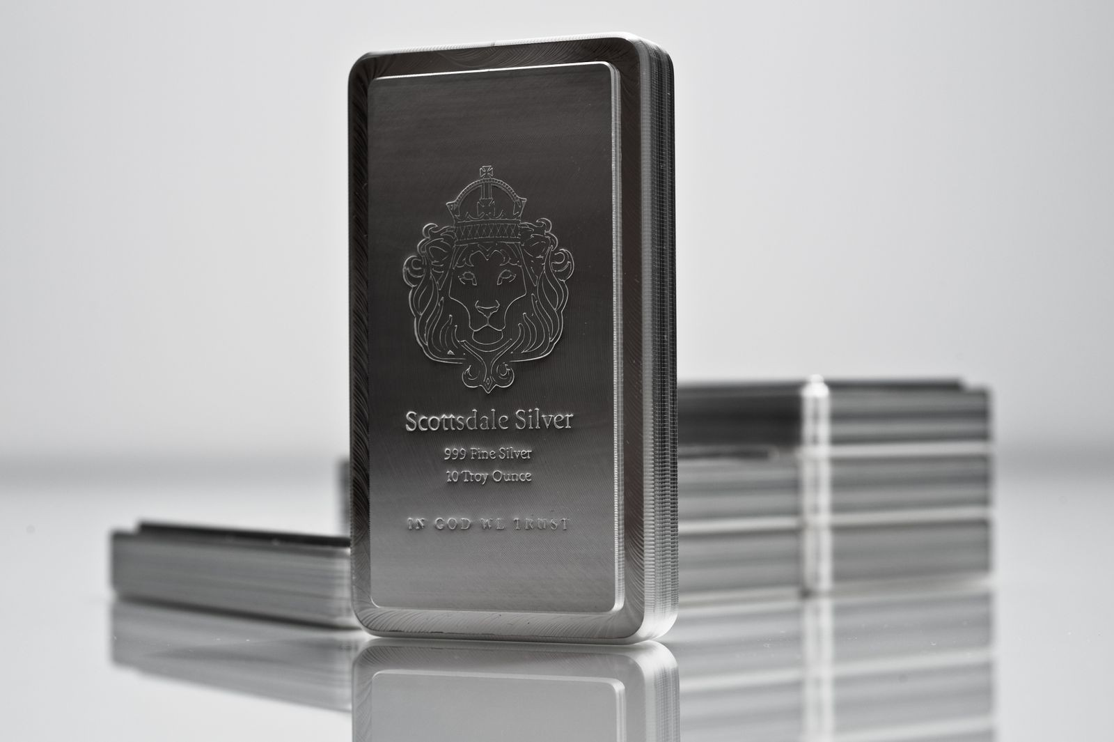 10oz Scottsdale Stacker Silver Bar
