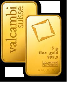 5g Valcambi Gold Minted Bar