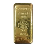 1kg Heraeus Feingold Gold Cast Bar