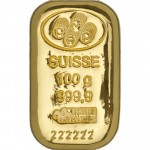 100g Pamp Suisse Gold Cast Bar