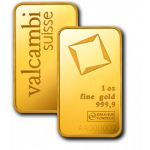 1oz Valcambi Gold Minted Bar